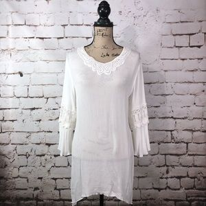Ivory Crocheted Lace Blouse